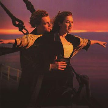 Titanic Flying at Sunset 1998 Movie Poster 23x35