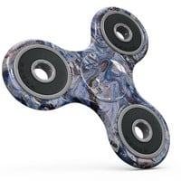 Abstract Wet Paint Blues Full-Body Fidget Spinner Skin-Kit