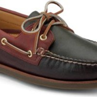 Sperry Top-Sider Gold Cup Authentic Original 2-Eye Boat Shoe Brown/Green/Burgundy, Size 8M  Men's Shoes
