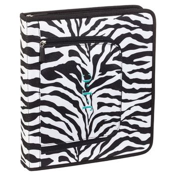 Gear-Up Black Zebra Homework Holder