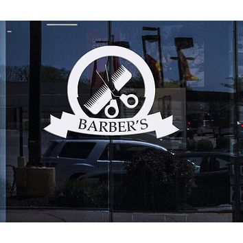 Window and Wall Sticker Barber Shop Decor Haircuts for Men Beauty Salon Vinyl Decal (n678w)