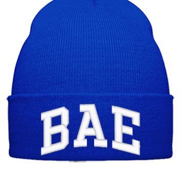 bae embroidery bucket hat - Beanie Cuffed Knit Cap