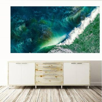 Large  Printing Oil Painting waves sea ocean stock wall art canvas print pictures for living room and bedroom No Framed