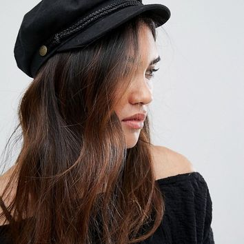 Brixton Baker Boy Hat in Black at asos.com