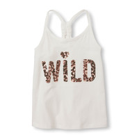 Girls Sleeveless Knotted Racer-Back Tank Top | The Children's Place
