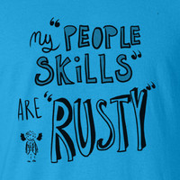 My people skills are rusty Supernatural Dean Winchester Tee T-Shirt