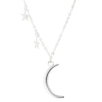 Moon And Stars Dainty Necklace
