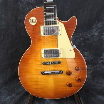 human NEW 1959 les Tiger Flame paul electric guitar Standard LP electric guitar in stock EMS free shipping