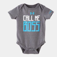 Boys' Newborn UA Call Me Boss Short Sleeve Bodysuit