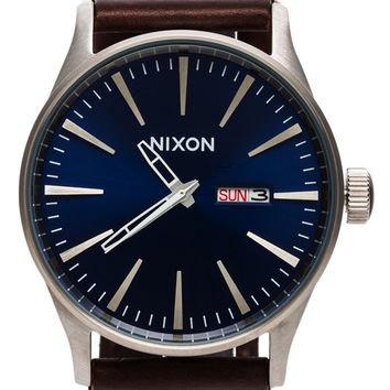 Nixon The Sentry Leather in Brown