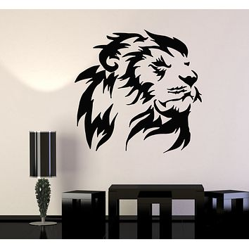 Wall Decal Lion Head Animal Africa Predator King Vinyl Sticker (ed1663)