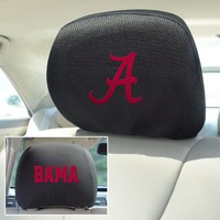 FANMATS Embroidered University of Alabama Crimson Tide Head Rest Covers Set of 2