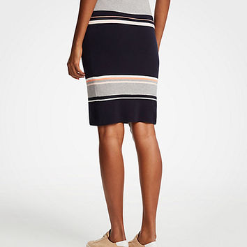 Colorblock Sweater Skirt | Ann Taylor