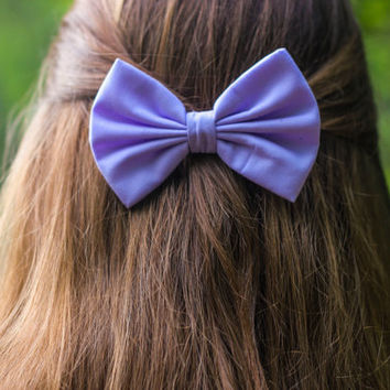 Lilac / Pastel Purple Hair Bow
