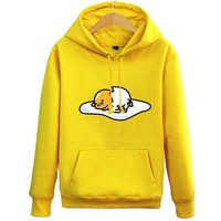 rxlzoon New Gudetama  Hoodie women Men Casual cotton Fall / Winter warm Sweatshirts