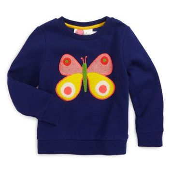 Mini Boden Bouclé Embroidered Sweatshirt (Toddler Girls, Little Girls & Big Girls) | Nordstrom