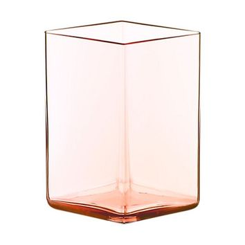 Ruutu Vase Medium in Salmon Pink - Pop! Gift Boutique