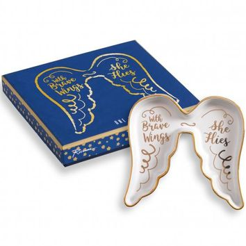 With Brave Wings, She Flies Trinket Tray