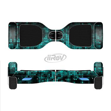 The Glowing Digital Green Dots Full-Body Skin Set for the Smart Drifting SuperCharged iiRov HoverBoard