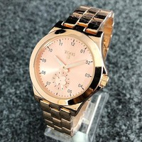 Tous New fashion dial bear couple stainless steel business watch