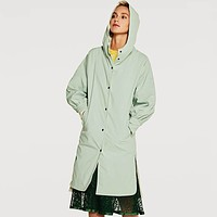 Slim Longline Hooded Trench Coat
