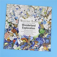 24 Pages Wonderland Exploration Flower Adult Coloring Book