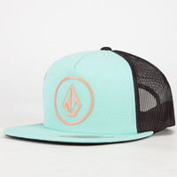 Volcom Shh It's A Hat Womens Trucker Hat Turquoise One Size For Women 23420324101