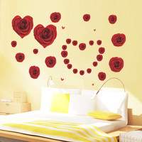 Red Decoration Bedroom Sofa Wall Sticker [6283978374]