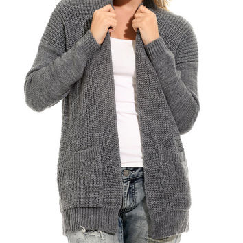 Gray long cardigan long cardigan woman knit cardigan gray cardigan sweater womens clothing women's sweaters trending items