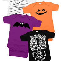 Spooky Baby Halloween 4 One Piece Set