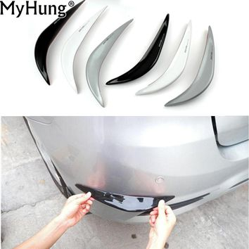 Universal Car Rubber Bumper Corner Guard Protector Front Lower Lip Guard Car-Styling Auto Part Decoration Car-Styling 1 Pair