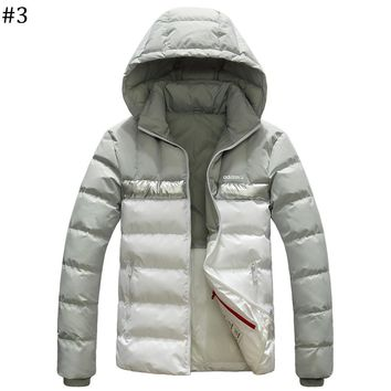 ADIDAS winter new lightweight down jacket coat hooded windproof warm cotton clothing #3