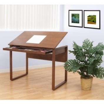 Studio Designs Ponderosa Wood-Topped Drafting and Hobby Craft Table - Free Shipping Today - Overstock.com - 14771669 - Mobile