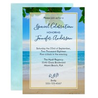 Scenic Tropical Beach Party Card