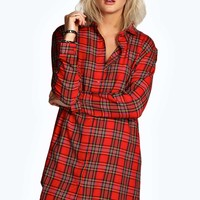 Claire Tartan Check Shirt Dress