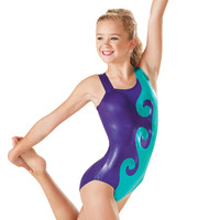 Metallic Swirl Gymnastics Leotard - Balera