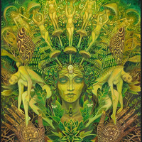 The Dryad Forest Nymph Goddess Psychedelic Art 16x20 Poster Print