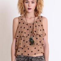 Take It Or Leave It Polka Dot Top - $29.00 : ThreadSence.com, Your Spot For Indie Clothing  Indie Urban Culture
