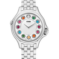 Fendi Ladies Crazy Carats Small 33mm  Stainless Steel Watch