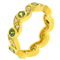 Olive Leaves Eternity Ring, size : 07