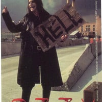 Ozzy Osbourne Vinyl Sticker Hitchhiker Photo