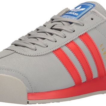 adidas Men's Samoa Fashion Sneaker Mid Grey Poppy/Satellite 14 D(M) US '