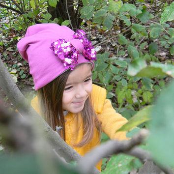 Girls Fall Hat- Slouchy Girl Hat - Slouchy Beanie Hat- Toddler Girl Fall Hat- Infant Girl Slouchy Hat- Toddler Hipster Beanie