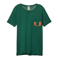 University of Miami Campus Short Sleeve Tee - PINK - Victoria's Secret