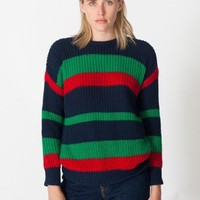 American Apparel - Unisex Stripe Fisherman's Pullover