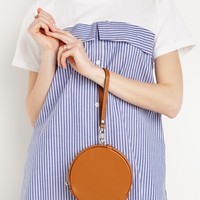 Brown Circle Cross Body Bag