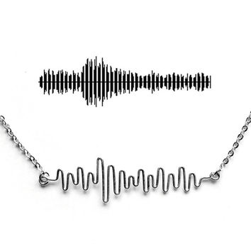Baby Heartbeat Necklace - Expectant Mother Gift, Sonogram Necklace, Soundwave Jewelry, Customized Gift