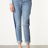 MOTO Contrast Stripe Jeans - Jeans - Clothing - Topshop USA