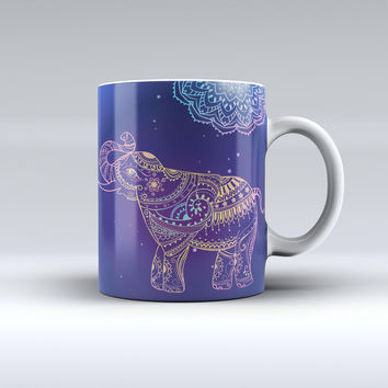 The Colorful Sacred Elephant ink-Fuzed Ceramic Coffee Mug