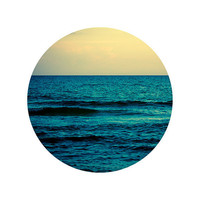 Round Ocean Photograph Water and Sky 8 Round Fine Art by eyeful